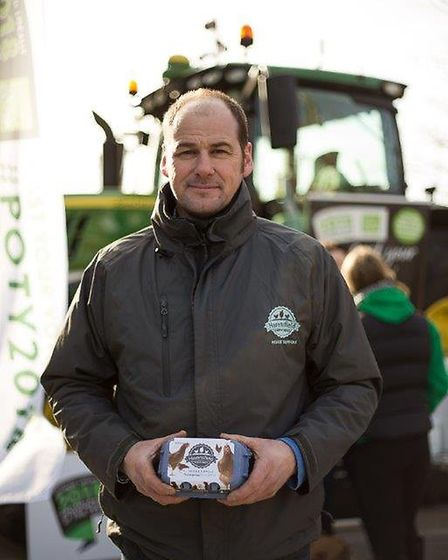 Producer of the Year nominee Alaistaire Brice from Havensfield Eggs on the East of England Co-op's T