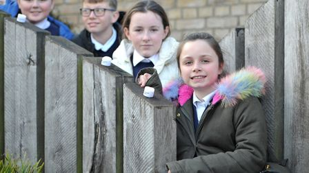 Children from Langer Primary Academy placed candles in memory of those who lost their lives in the f