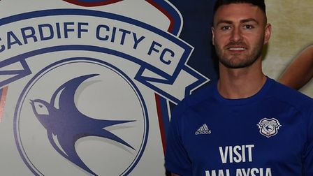 Gary Madine swapped Bolton for Cardiff in a £6million deal. Picture: Cardiff City