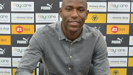 Benik Afobe has returned to Wolves on loan from Bournemouth. Picture: Wolves