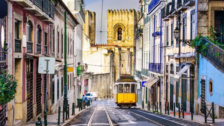 Lisbon, Porgugal cityscape and tram near Lisbon Cathedral. PICTURE: Thinkstock