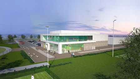 Artist's impression of how the new leisure development at Northern Gateway in Colchester could look.