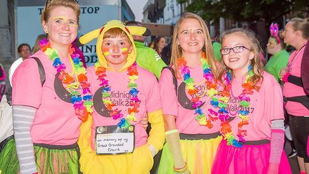 More than 1,000 people have already signed up for the 2018 Midnight Walk. Participants were kitted o