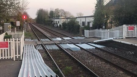 The crossing at Halesworth station. Picture: CONTRIBUTED