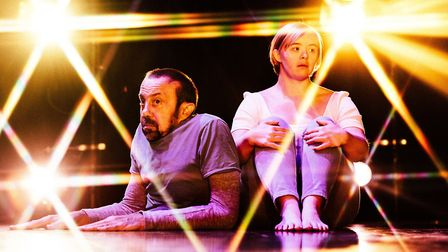David Toole and Hannah Sampson in The Enormous Room by Stopgap Dance Company which is being staged a