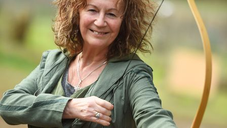 Glynis Baxter at Ring Quest event in West Stow Anglo-Saxon Village. Picture: GREGG BROWN