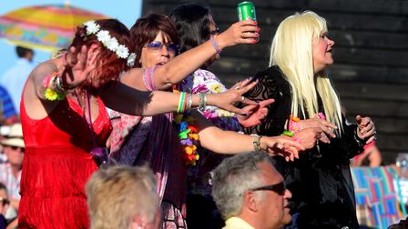 Large crowds soak up the sun and music at Music by the Sea in Aldeburgh in 2015. Picture: SIMON PARK
