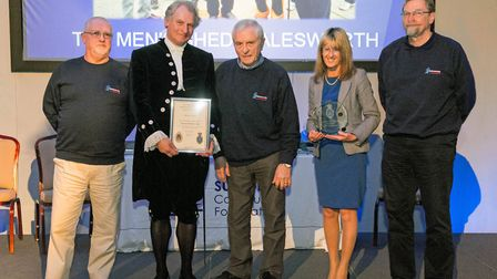 The Suffolk Strengthen Your Community Award was presented to Halesworth Men'�s Shed. Picture: SIMON