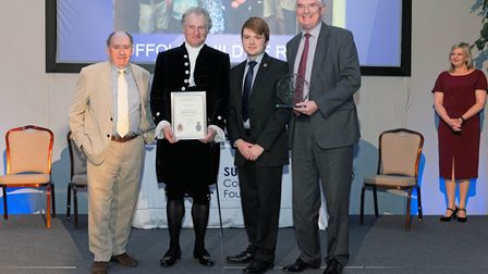 New to this year, the Suffolk Heritage Award was won by the Suffolk Guild of Ringers. Picture: SIMON
