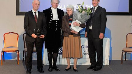 The Lifetime Achievement Award went to the Rev Sally Fogden for her exceptional commitment to volunt