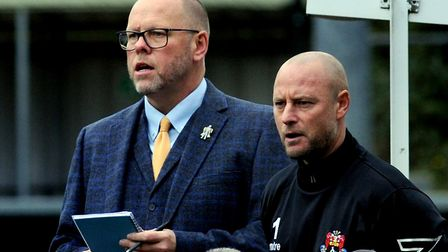 AFC manager Mark Morsley, left and assistant Lee Norfolk. Picture: ANDY ABBOTT