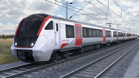 An impression of the Greater Anglia Bombardier suburban train. Picture: GREATER ANGLIA