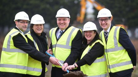 Members of the Donalds team, from left, Graham Wemyss, group chairman Sam Hamblin, group chief exec