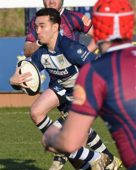 Chelmsford launch at attack against Sudbury. Picture: CHELMSFORD RUGBY CLUB