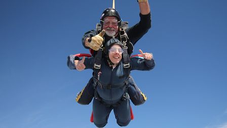Tracy Stephens braved two tandem skydives in July last year to raise cash for EACH. Having caught th