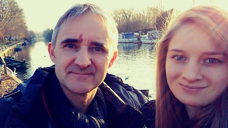 Paul and his daughter Emily, who called an ambulance when he fell ill. Picture: Stroke Association