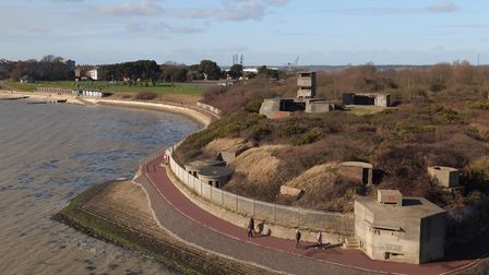 Beacon Hill fort in Harwich from the air. Picture: JOE GIDDENS/PA WIRE