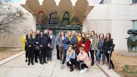 University of Suffolk art students based at West Suffolk College in Bury St Edmunds studied Gaudi on