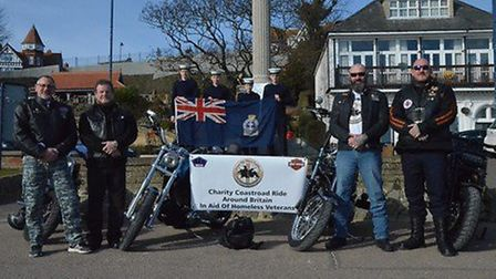 """Pictured at the launch of the coastal ride round Britain to raise funds for the """"Once, We Were Soldi"""