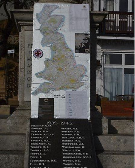 """The route which is gong to be taken by the bikers on the """"Once, We Were Soldiers"""" ride round the coa"""