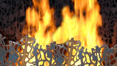 The Fire Basket, one of nature-inspired sculptures by Paul Richardson.. Photo: Paul Richardson