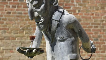 The Outdoor Butler, one of the comic creations by sculptor Paul Richardson.. Photo: Paul Richardson