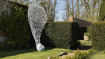 Sycamore Seed, one of nature-inspired sculptures by Paul Richardson.. Photo: Paul Richardson