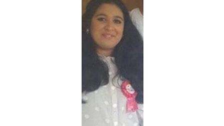 Taybah Khan, 13, was last seen at about 10.30pm in Stumpacre, Bretton, Peterborough on Thursday (15