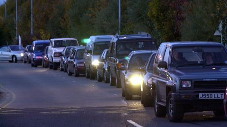 Traffic queue. Picture: DAVE KINDRED