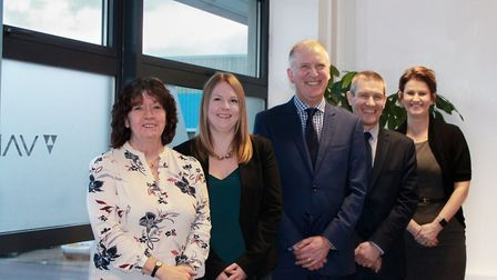 From left, Janet Hill, Holly Tonge, Miles Vartan, Neil Bird and Sue Jerstice of compliance consultan
