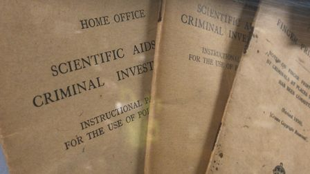 Early handbooks on display at Suffolk police museum. Picture: NEIL PERRY