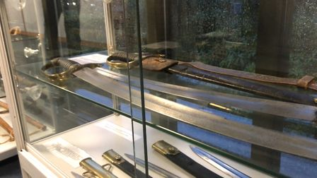 Suffolk police museum swords from the days of smugglers. Picture: NEIL PERRY