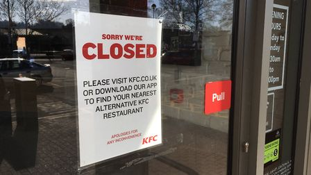 All KFC branches in Suffolk are closed today. Picture: ARCHANT