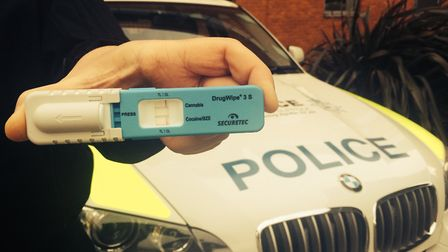 The drug test used at roadsides. Picture: SUFFOLK CONSTABULARY