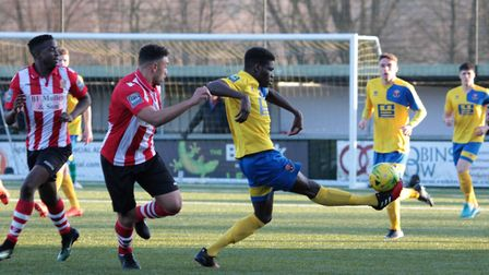 Mekhi McKenzie won the penalty from which Joe Whight won the game for AFC Sudbury against AFC Hornch