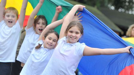Eyke Primary School now has a huge array of sports equipment. Picture: SARAH LUCY BROWN
