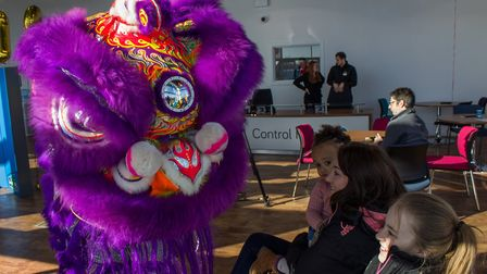 Chinese New Year celebrations marking the opening of Evans Halshaw's new Car Store in Ipswich. Pic