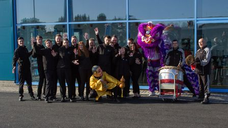 Memers of the team at the new Evans Halshaw Car Store. Picture: Evans Halshaw