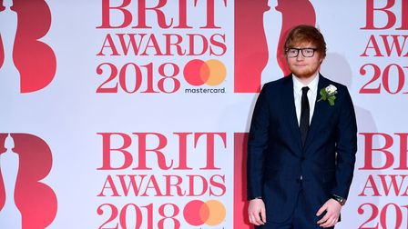 Ed Sheeran attending the Brit Awards at the O2 Arena, London. PRESS ASSOCIATION Photo. Picture date: