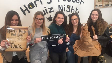 Students at the One sixth from resource centre preparing for Harry Potter Book Night. Picture: JOHN