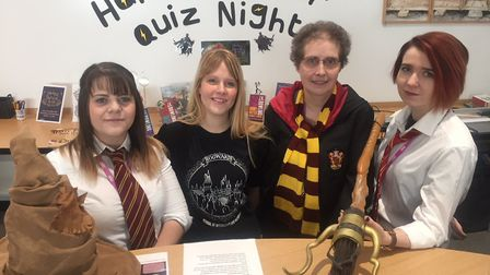 The learning resources team at one sixth form in full Harry Potter regalia. Picture: JOHN NICE