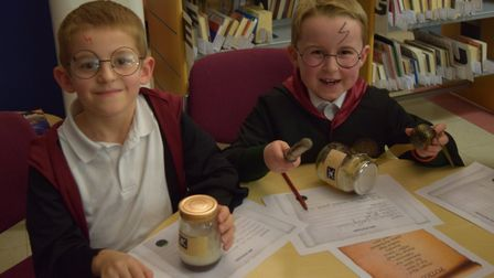 Youngsters enjoy their evening in the library. Picture: SUFFOLK LIBRARIES