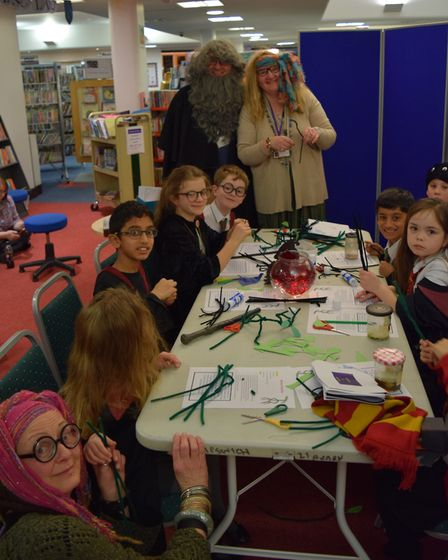 Harry Potter evening at Ipswich Library. Picture: SUFFOLK LIBRARIES