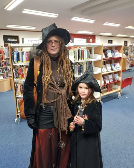 Dressing up was the order of the day in Stowmarket. Picture: SUFFOLK LIBRARIES