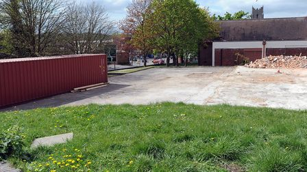The site of the former Sudbury Tax Office which has been demolished for re-development.