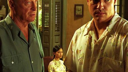 Michael Caine, Brendan Fraser and Thi Hai Yen Do in The Quiet American. Photo: Miramax