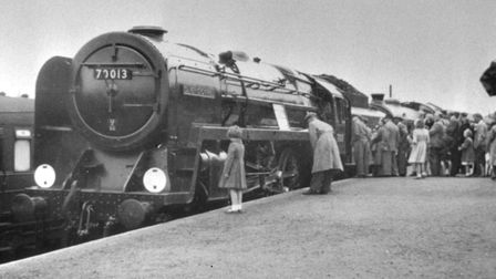 Oliver Cromwell at Norwich railway station in 1951, the year it entered service. Picture: ARCHANT fi