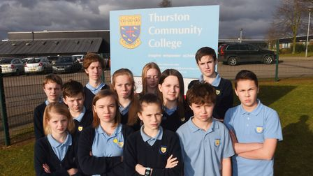 Pupils from Thurston Community College are pleading with Suffolk County Councillors to help them kee