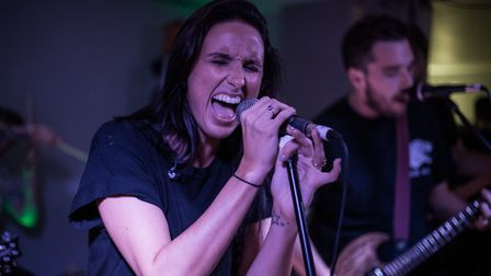 Underline The Sky performing at The Smokehouse in Ipswich. Picture: JODIE BURNS/BURNT OUT MEDIA
