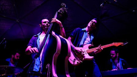 JS and the Lockerbillies performing live. Picture: GUIDO MENCARI